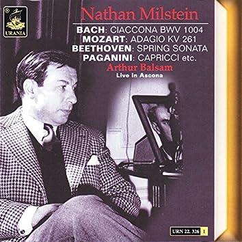 Bach; Ciaccona - Mozart: Adagio K. 261 - Beethoven: Spring Sonata - Paganini: Capricci