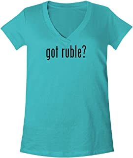 The Town Butler got Ruble? - A Soft & Comfortable Women's V-Neck T-Shirt