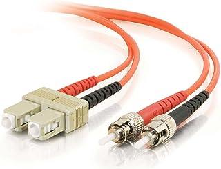 C2G / Cables to Go 37420 SC/ST Duplex 50/125 Multimode Fiber Patch Cable (6 Meter, Orange)