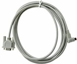 Twinkle Bay Micrologix Programming Cable, Compatible 1761-CBL-PM02 1000, 1100, 1200, 1500 Series with 8 Pin Round and 90 Degree End