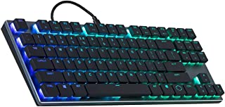 Cooler Master SK630 Tenkeyless Mechanical Keyboard with Cherry MX Low Profile Switches In Brushed Aluminum Design