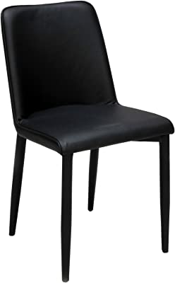 Weber Industries ANA Lot de 2 chaises, Métal, Noir, 44,5x52,5x85 cm