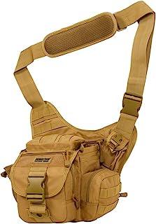 サイバトロン フロントバッグ ショルダーバッグ タクティカル MOLLE対応 多機能 軍用 防水 カメラバッグ