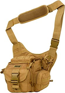 Seibertron Multi-Functional Tactical Assault Gear Sling Pack Range Bag Heavy Duty Shoulder Strap Hiking EDC Messenger Molle Bag Travel Camera Compact Utility Military Bag