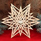 Estrella portavelas–Decoración de madera para Navidad, madera, Teelichthalter...