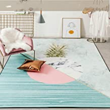KFEKDT Geometric Pattern Chenille Material European Rug Living Room Bedroom Study Coffee Table Decorative Rug A4 100x160cm
