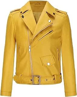 EnergyWomen Short Oversize Comfy Leather Motorcycle Outwear Coat Jacket
