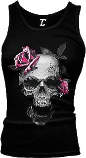 Pink Rose Skull - Badass Skeleton Juniors Tank Top