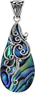 Pendant 925 Sterling Silver Abalone Shell Boho Handmade Jewelry for Women Gift