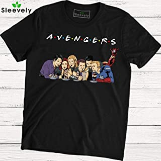Avengers Friends T-Shirt Captain America Thor Iron Man Hulk Friends TV Show