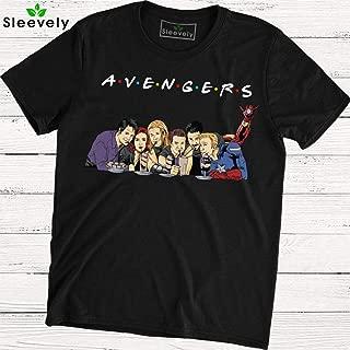 Avengers Friends T-Shirt Captain America Thor Iron Man Hulk Friends TV Show