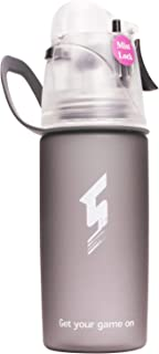 Qshare Misting Water Bottle, Spray Mist Sports Bottle for Outdoor Sport Hydration and Cooling Down, FDA Approved BPA-Free Misting Water Bottle with Unique Mist Lock Design