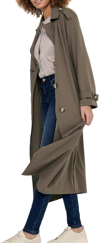 Only Onlline X-Long Trenchcoat CC Otw Gabardina para Mujer