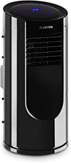 KLARSTEIN Metrobreeze Miami - Aire Acondicionado portátil, 9.000 BTU/2,6 kW, 950 W, Caudal máximo 380 m³/h, Tamaño de Sala 26-44 m², Clase A, 4 Modos, 3 Niveles, Temperatura Regulable 16-31 °C, Negro