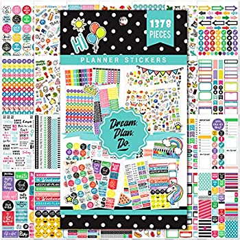 Planner Stickers - 28 Sheets 1378 Stunning Design Accessories for Journals and Calendars Essential Planner Accessories by Tullofa - Green