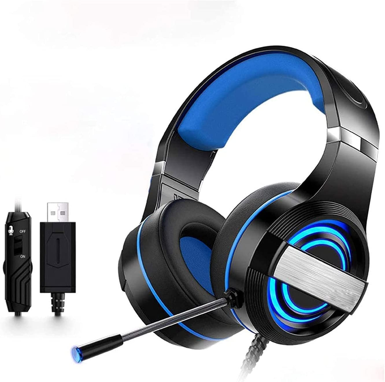 Leo1996 Challenge the lowest price of Japan ☆ Gaming Headset for Sacramento Mall Surround Gamin Noise Cancelling Sound