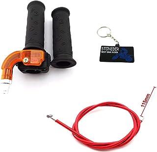 STONEDER - Puños de Acelerador giratorios + Cable de Acelerador Rojo para 43 49 CC Mini
