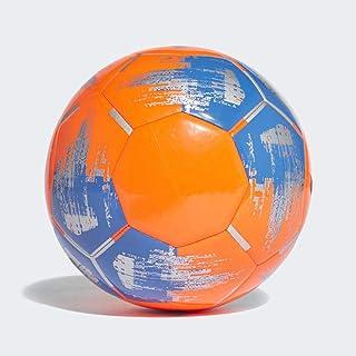 adidas Team JS290 Soccer Ball, Men's, Solar Orange/Blue/Silver Met, 5