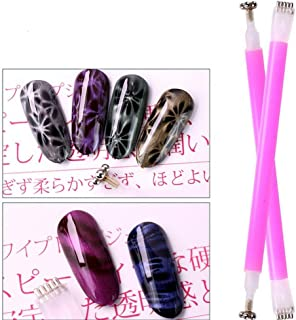 Double-headed Magnetic Nail Painting Pen, Dotting Pen for Cat Eye UV LED Gel Nail Art Polish, Professional Acrylic Manicure Tool