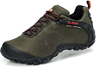 Hiking Boots Mens - Hiking Shoes Women Casual Shoes|Sneakers|Rubber Sole|Breathable Mesh|Safety Protection|Military Green ...
