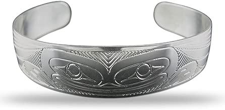 Sterling Silver Frog Pacific Northwest Coast Native 1/2 Inch Wide Bracelet