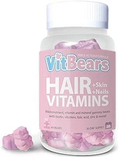 VITBEARS HAIR, SKIN AND NAIL VITAMINS, 60 COUNT (1 MONTH SUPPLY)
