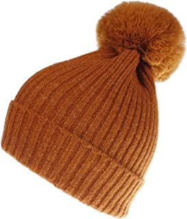 Women Winter Knit-Beanie-Hats with Pom
