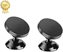 Magnetic Phone Car Mount Holder,[ 2 Pack ] Universal Dashboard Car Phone Holder for iPhone Xs Max XR X 8 7 6S 6 Plus Samsung Galaxy S8 S7 S6 Note 5 6 7 Google Pixel LG and GPS, Black