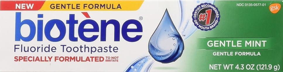 利得死ぬオンBiotene Gentle Mint Fluoride Toothpaste 4.3 Oz, by Biotene