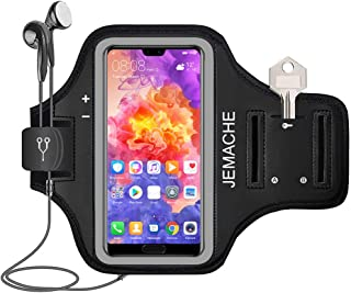 Huawei P30 Pro, P20 Pro Armband, JEMACHE Water Resistant Gym Running Workouts Arm Band Case for Huawei P30/P20 Pro, Mate 30/20 Pro, P Smart 2019 (Black)