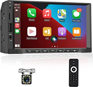 $86 » Double Din Car Stereo with Apple Carplay Android Auto 7 Inch HD Touch Screen Car Multimedia Player Support Bluetooth FM Ra...