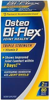 Osteo Bi-Flex Triple Strength + Vitamin D, Coated Tablets 80 ea (Pack of 3)