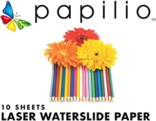 Papilio Laser Printer Waterslide Decal Paper -10 sheets, clear