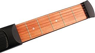 【ノーブランド品】初心者 ブラック用 ポケット ギター 6フレット 練習列 ツールガジェット