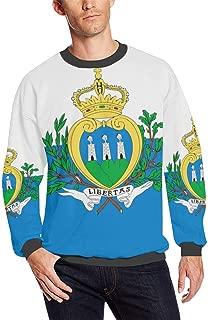 San Marino Flag Men's Fuzzy Pullover Sweatshirt