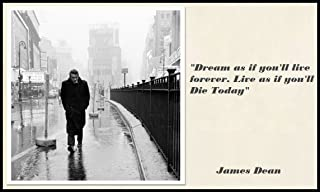 James Dean Quote FRIDGE MAGNET 2.5x3.5 Magnetic Poster Canvas Print