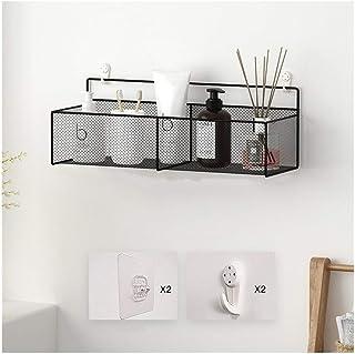 Étagère d'angle Douche Douche étagères mur Mounted salle de bains étagère Sans Drilling Bath Place de fer Organisateur for...