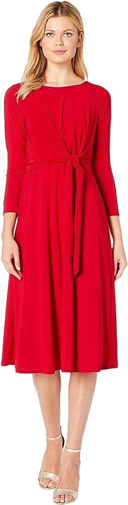 Bracelet Sleeve Front Knot Jersey Dress