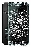 Sunrive Für HTC U11 Life Hülle Silikon, Transparent Handyhülle Schutzhülle Etui Hülle Backcover für HTC U11 Life 5,2 Zoll(TPU Blume Weiße)+Gratis Universal Eingabestift