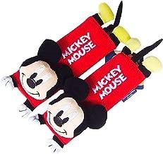 Disney Mickey Mouse Design Multi Use Auto Car seat belt cover Plush Seat Shoulder Pad Cushion 2 pcs One Pair