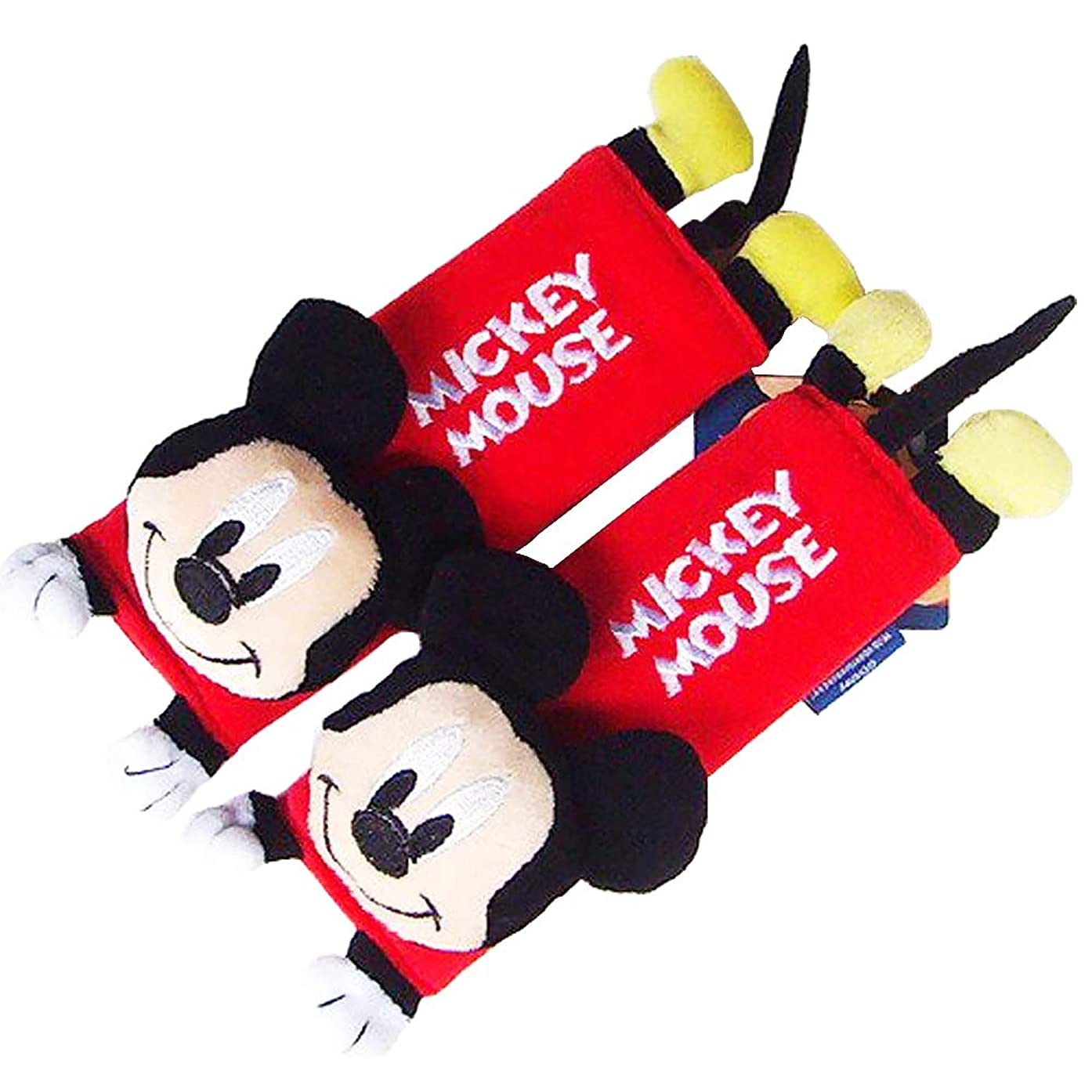 Disney Mickey Mouse Design Multi Use Auto Car seat belt cover Plush Seat Shoulder Pad Cushion 2 pcs One Pair