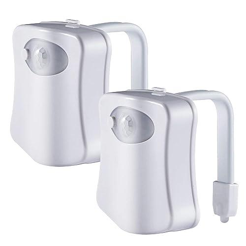 ADMOZ Multi Color Motion Sensor LED Toilet Night Light Detection Cool