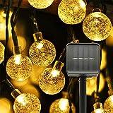 Cadena de Luces Solares LED, 8 Modos de lluminación, 30 Led Focos...