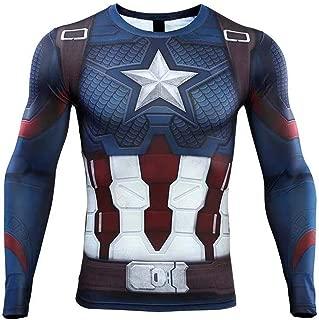 3D Super Hero Close-Fitting Quick-Drying Elastic Sport Cosplay T-Shirt
