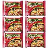 Fideos o noodles instantáneos Yum Yum sabor a gamba - pack de 6 unidades