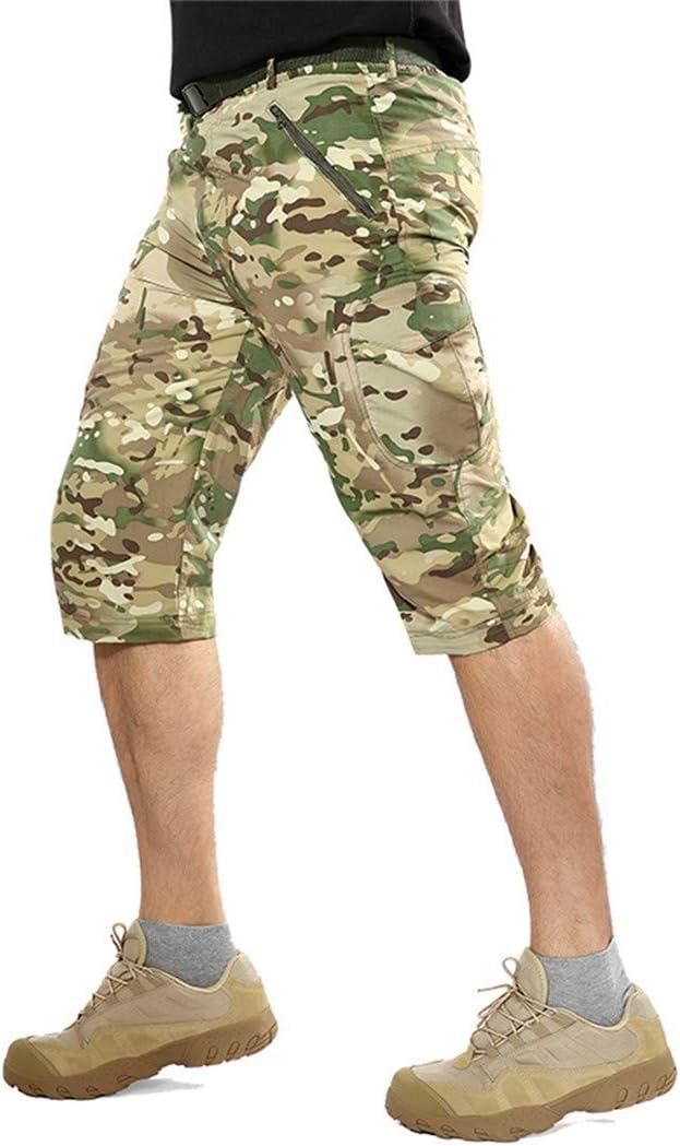 Pantalon Militaire Amovible léger Pantalon Tactique de Camouflage à séchage Rapide Jambe Respirante Pantalon d'armée Amovible ACU