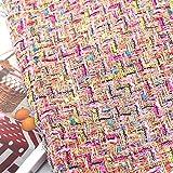 Lobboy Stoff Farbe Gold Draht Woven Wolle Tweed Streifen
