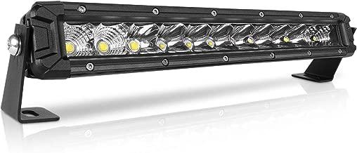 Rigidhorse 12 Inch LED Light Bar 140W Single Row Flood & Spot Beam Combo 10000LM Off Road LED Light Bar Driving Light for Jeep Pickup SUV ATV UTV Truck Roof Bumper, 2 Years Warranty