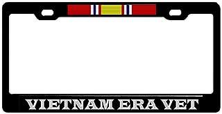 Black License Plate Frame Cover, Military Pride Car Tag Frame, 2 Holes and Screws License Plate Holder, Aluminum Metal