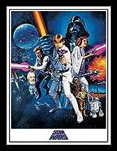 Star Wars 30 x 40 cm Una Nueva Esperanza una Hoja impresión enmarcada